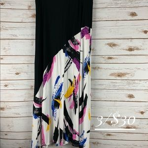 Lane Bryant skirt 14/16 color blocked maxi